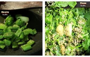 Jalapeno cilantro pesto in making