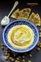 Hummus with Mediterranean flat bread & Meze Labne
