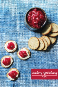 Cranberry Apple Chutney served with crostini