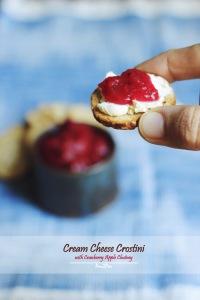 Cream Cheese Crostini