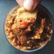 Roasted Eggplant-Red Pepper Dip