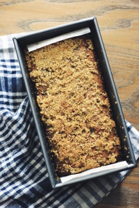 Banana-Oat Bread Loaf in Pan
