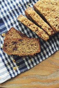 Banana-Oat Bread Sliced