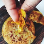 Flaky layered masala flat bread