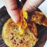 Flaky layered masala flat bread